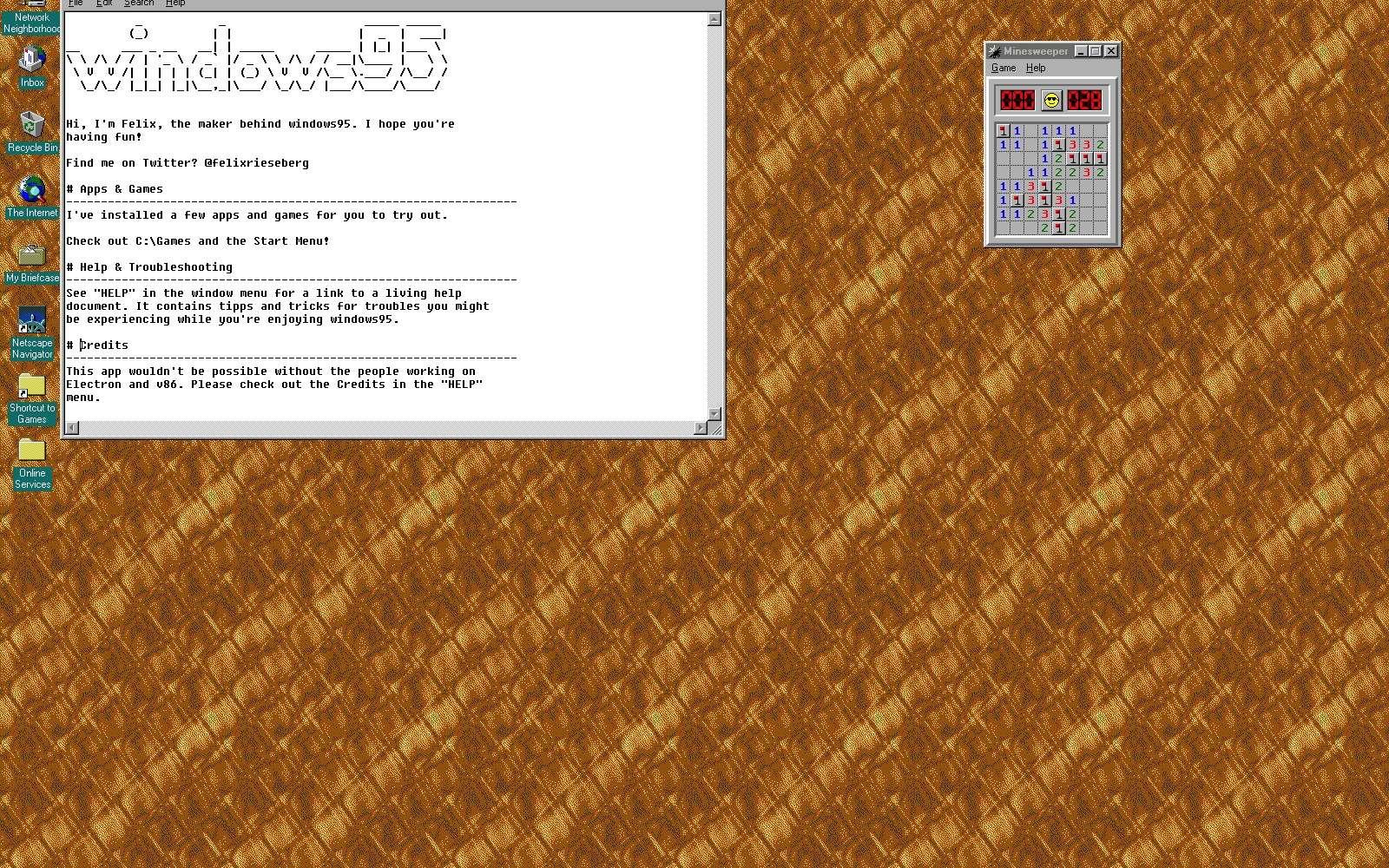 Windows 95 s'exécute dans une machine virtuelle. Il fonctionne comme un programme indépendant sans toucher à vos fichiers © Futura