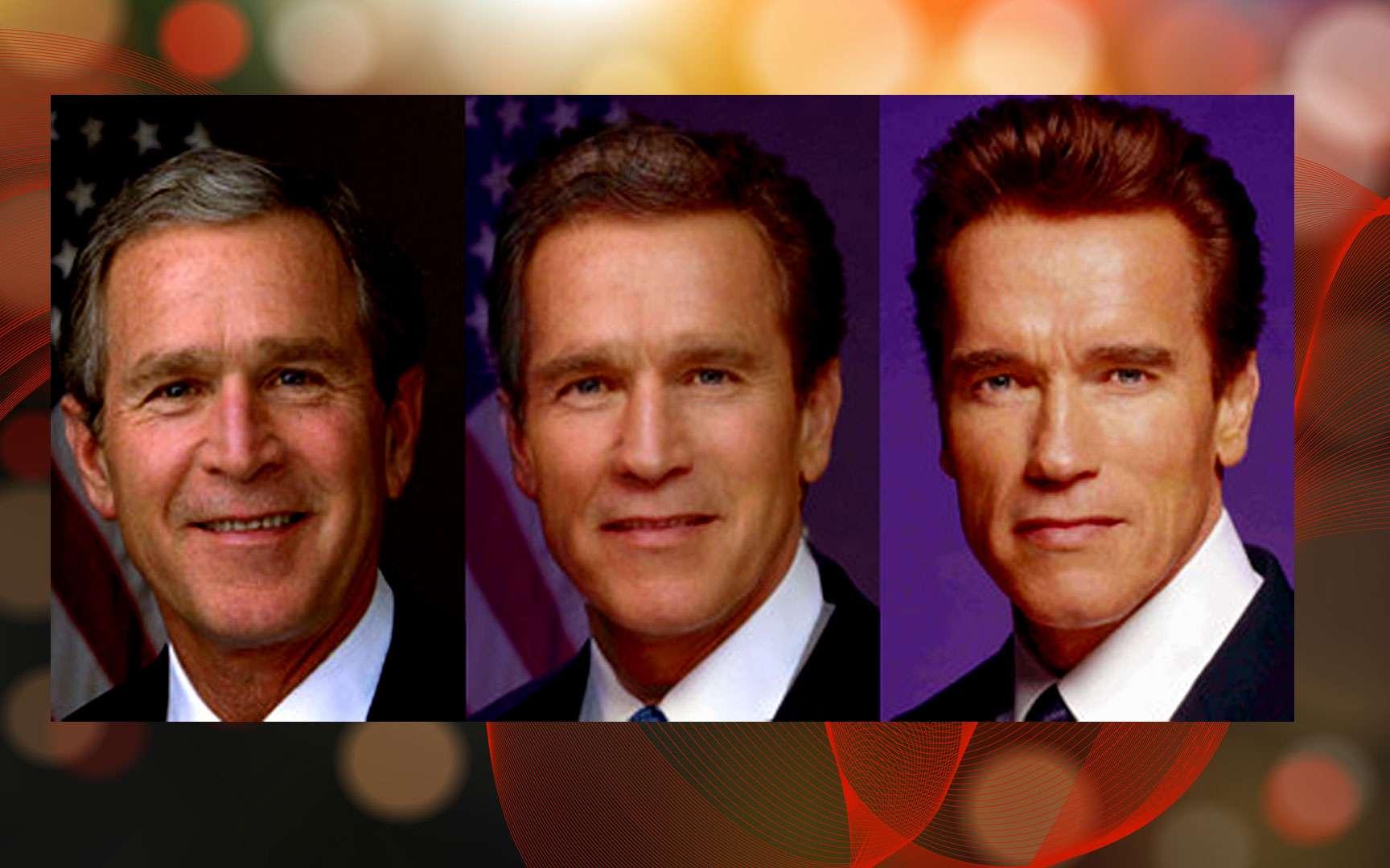 Morphing : de George Bush à Arnold Schwarzenegger, Wikimedia commons, Lainf, DP
