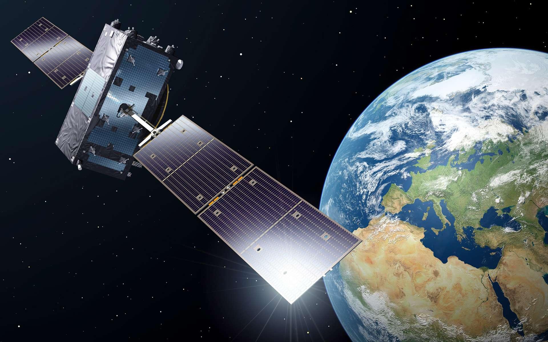 À ce jour, 22 satellites Galileo ont été déployés. Ils offrent des services initiaux depuis le 15 décembre 2016 et sont aujourd'hui utilisés par plus de 100 millions de terminaux commerciaux. Le 25 juillet, Arianespace en lancera quatre de plus. © ESA, P. Caril