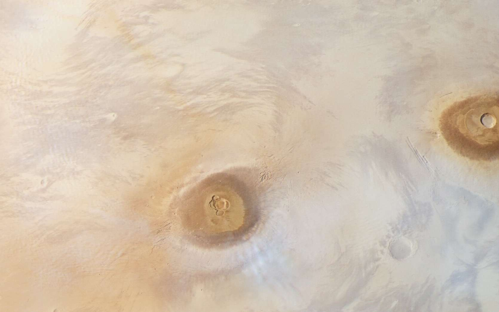 Extrait de la vue globale de Mars prise par Mars Express lors de sa 17.444e/sup> orbite de Mars. © ESA, DLR, FU Berlin, CC by-sa 3.0 IGO