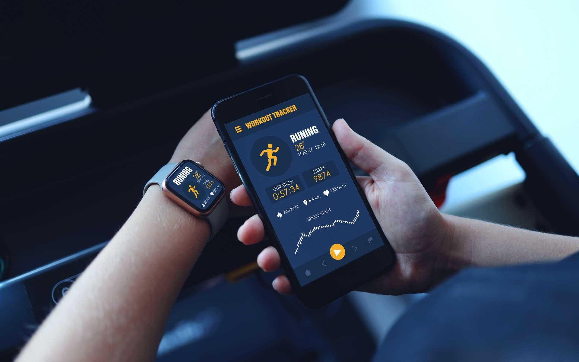 Une smartwtach doit être appairée à son smartphone pour pouvoir fonctionner. © shine.graphics, Adobe Stock