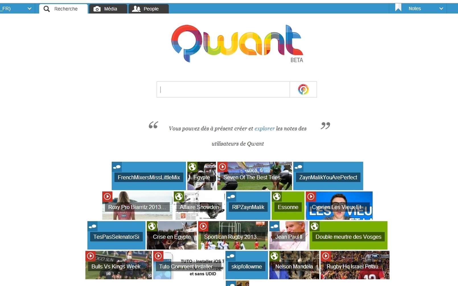 Depuis son lancement en février dernier, le moteur de recherche à la française Qwant aurait répondu à 225 millions de requêtes. 3,5 millions de visiteurs s'y connecteraient chaque mois. © Sylvain Biget / Futura-Sciences