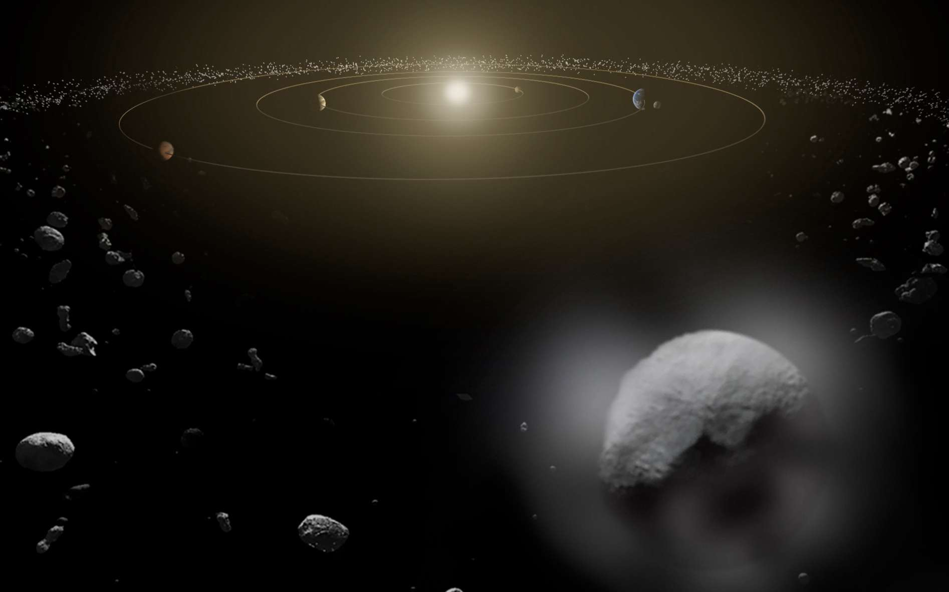 Après Solar Orbiter et Euclid, l'Esa s'apprête à sélectionner la troisième mission moyenne de son programme scientifique Vision cosmique. © Esa, ATG Medialab