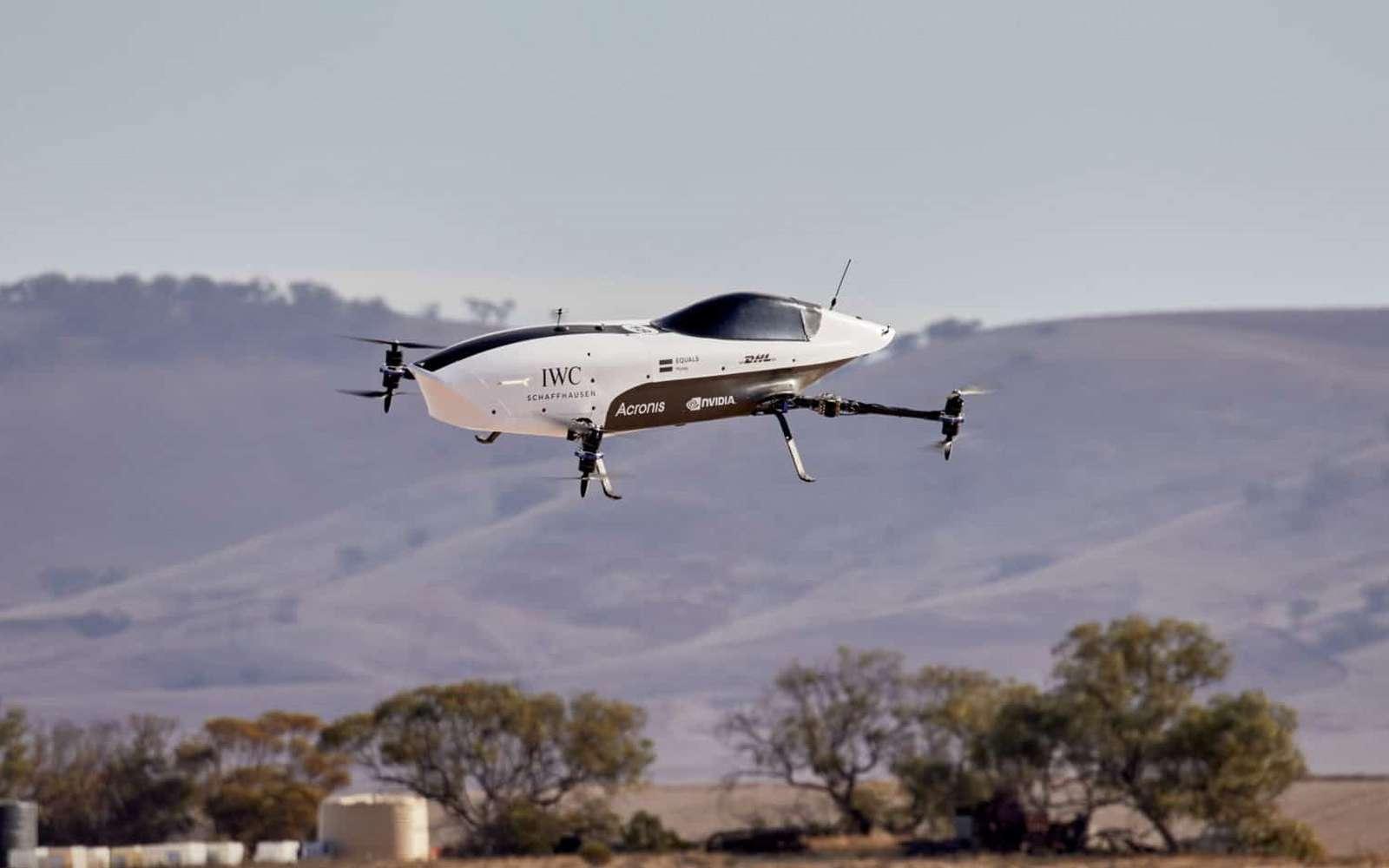 La voiture de course électrique volante Airspeeder Alauda Mk3. © Airspeeder