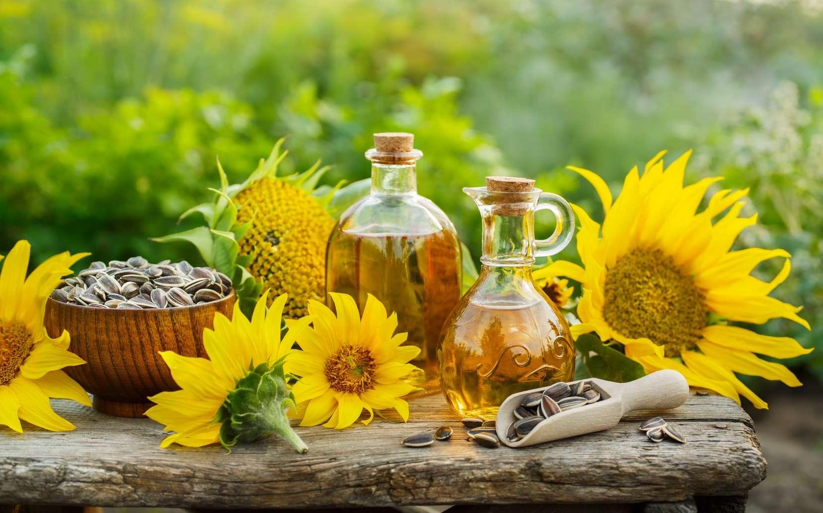 L'huile de tournesol est riche en acides gras oméga-6. © valya82, Fotolia