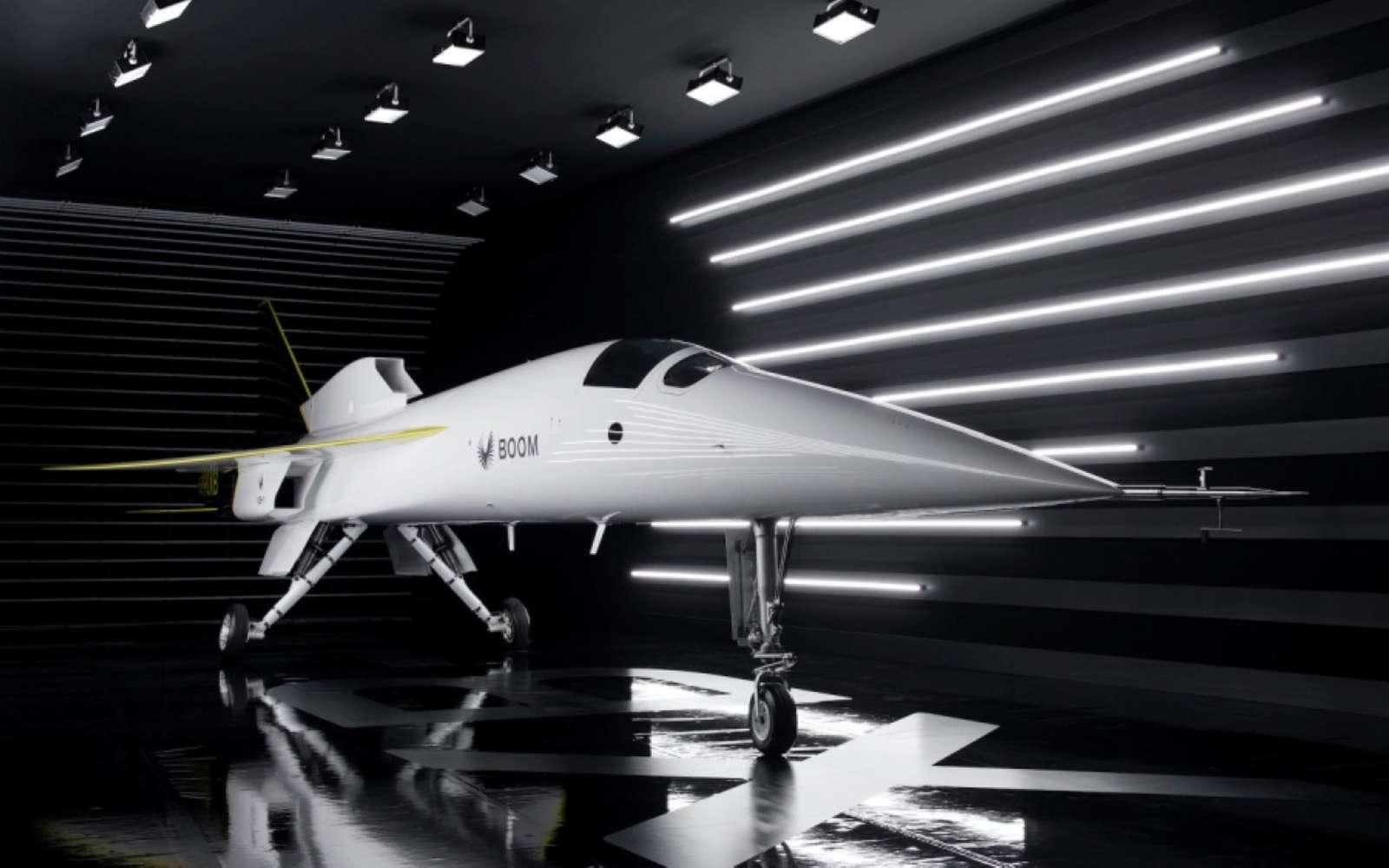 Le démonstrateur XB-1 de Boom vient d'être dévoilé. Il ne peut embarquer que son pilote d'essai pour le moment. © Boom
