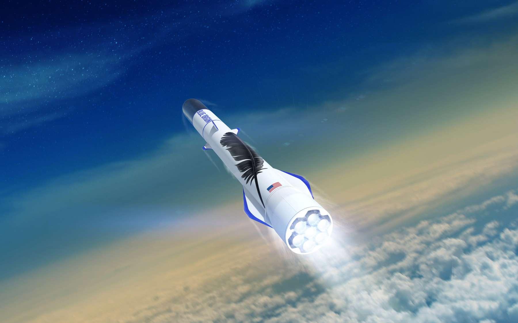 Le futur lanceur New Glenn de Blue Origin. © Blue Origin