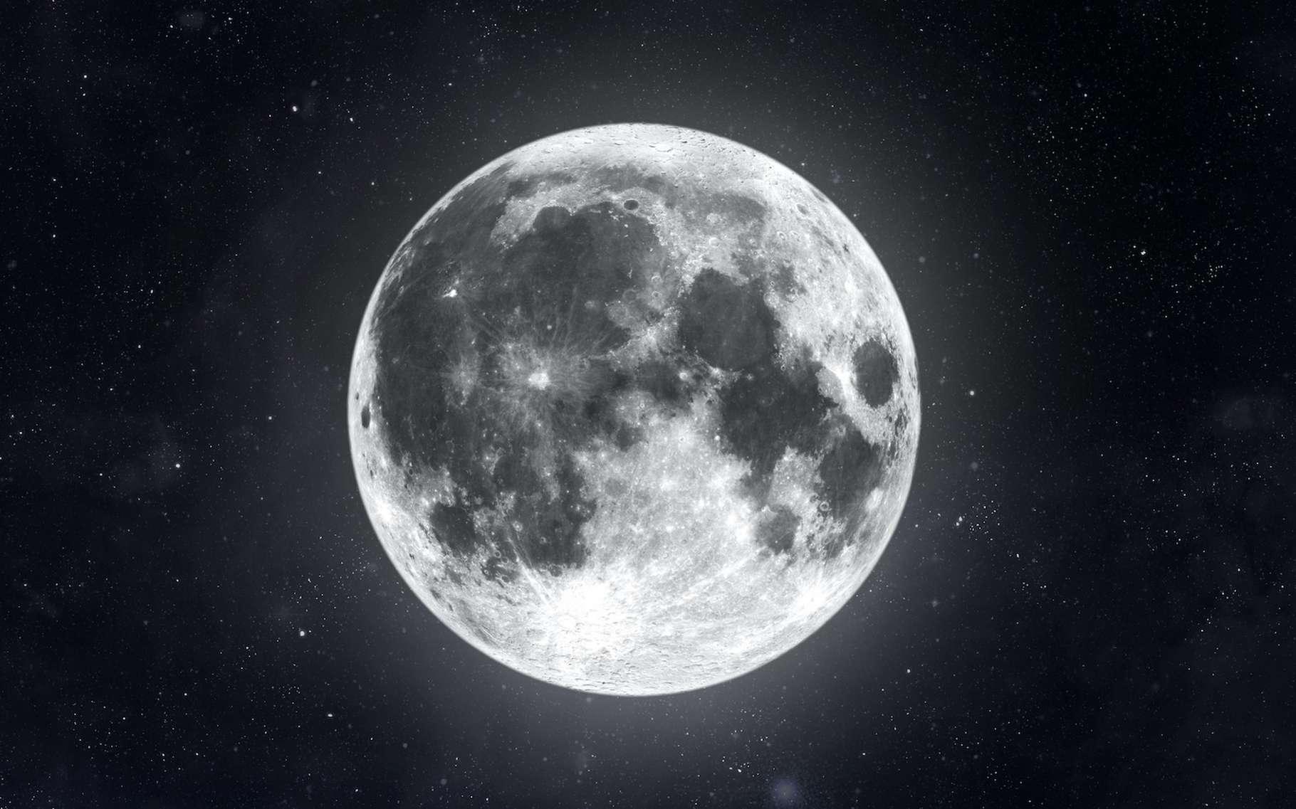 Des chercheurs de la Nasa (États-Unis) viennent de découvrir des quantités de métal inattendues dans le sous-sol de la Lune. Une découverte qui pourrait permettre de préciser la théorie de la formation de notre satellite naturel. © SkyLine, Adobe Stock