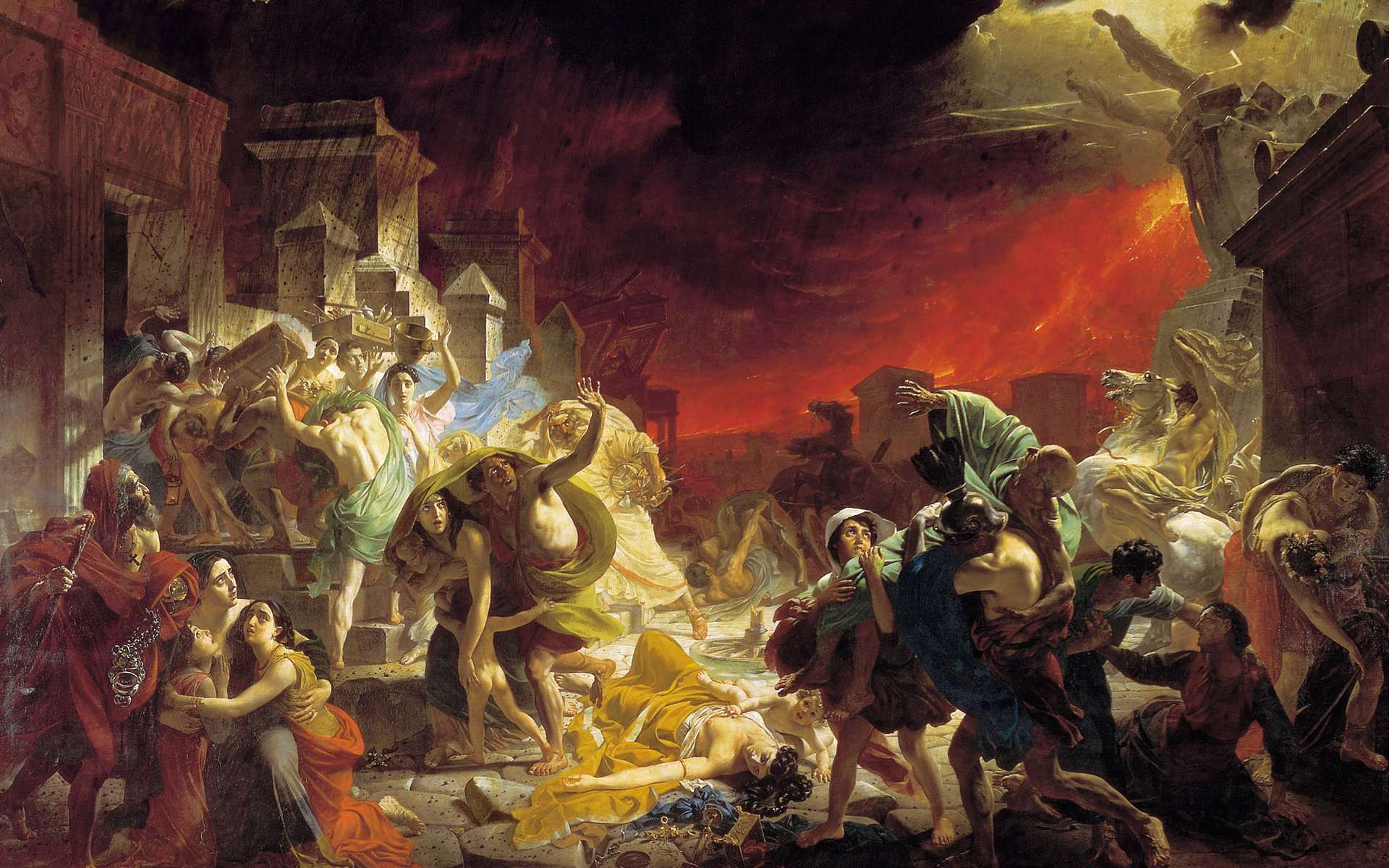 Le Dernier Jour de Pompéi, tableau de Karl Brioullov (1830-1833). © DP