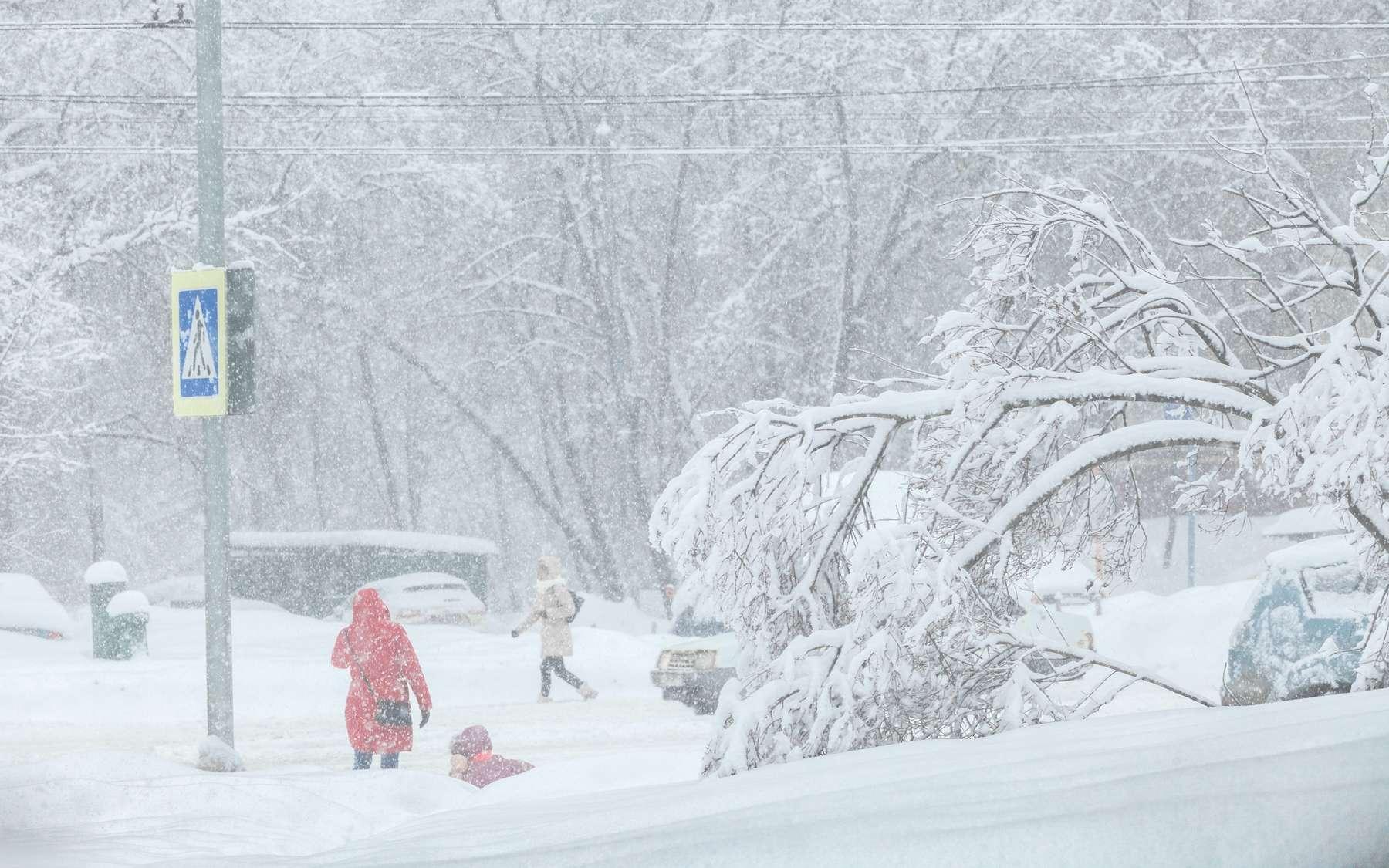 Une tempête de neige comme celle qui a frappé les États-Unis de manière inhabituelle cet hiver. © TMakotra, Adobe Stock