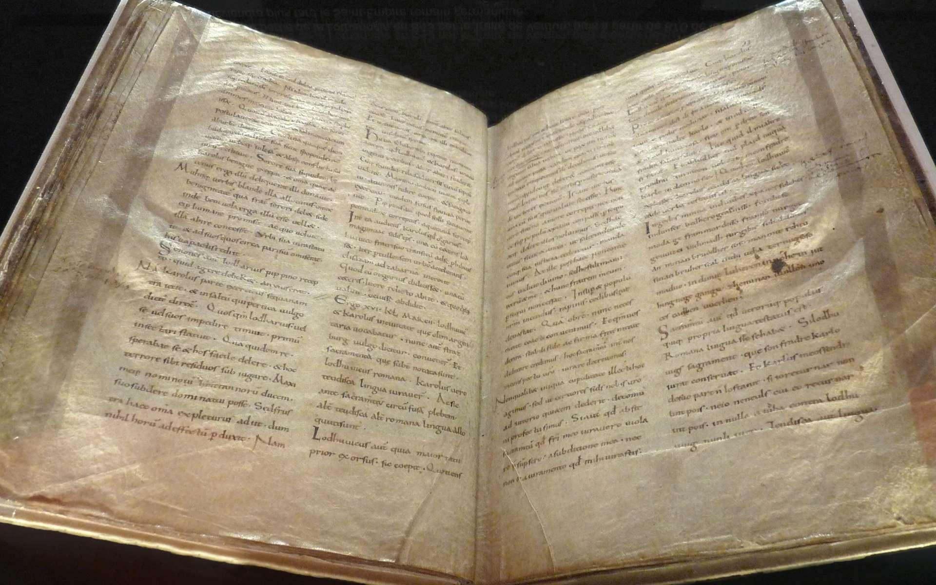 Le Serment de Strasbourg est l'un des premiers textes écrit en français. © Ji-Elle, Wikimedia Commons, Domaine public