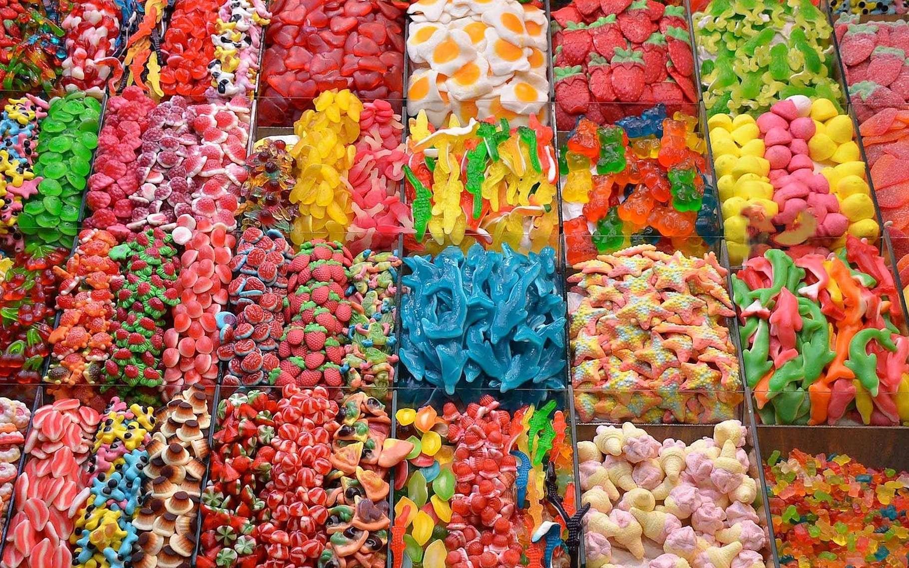 On trouve toujours du dioxyde de titane dans les bonbons. Et selon une étude, ce colorant connu aussi sous le nom de E171 pourrait provoquer des diabètes de type 2. © Pixelia, Pixabay, CC0 Creative Commons