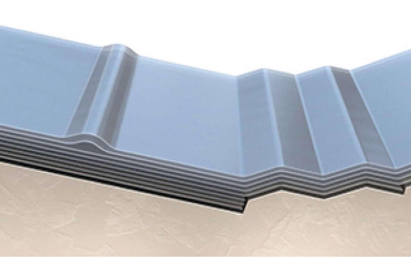 Voici la représentation du matériau en graphique mis au point par les chercheurs de l'Université Kaust. Les couches du matériau flexible sont composées de graphite et de nickel. © Kaust