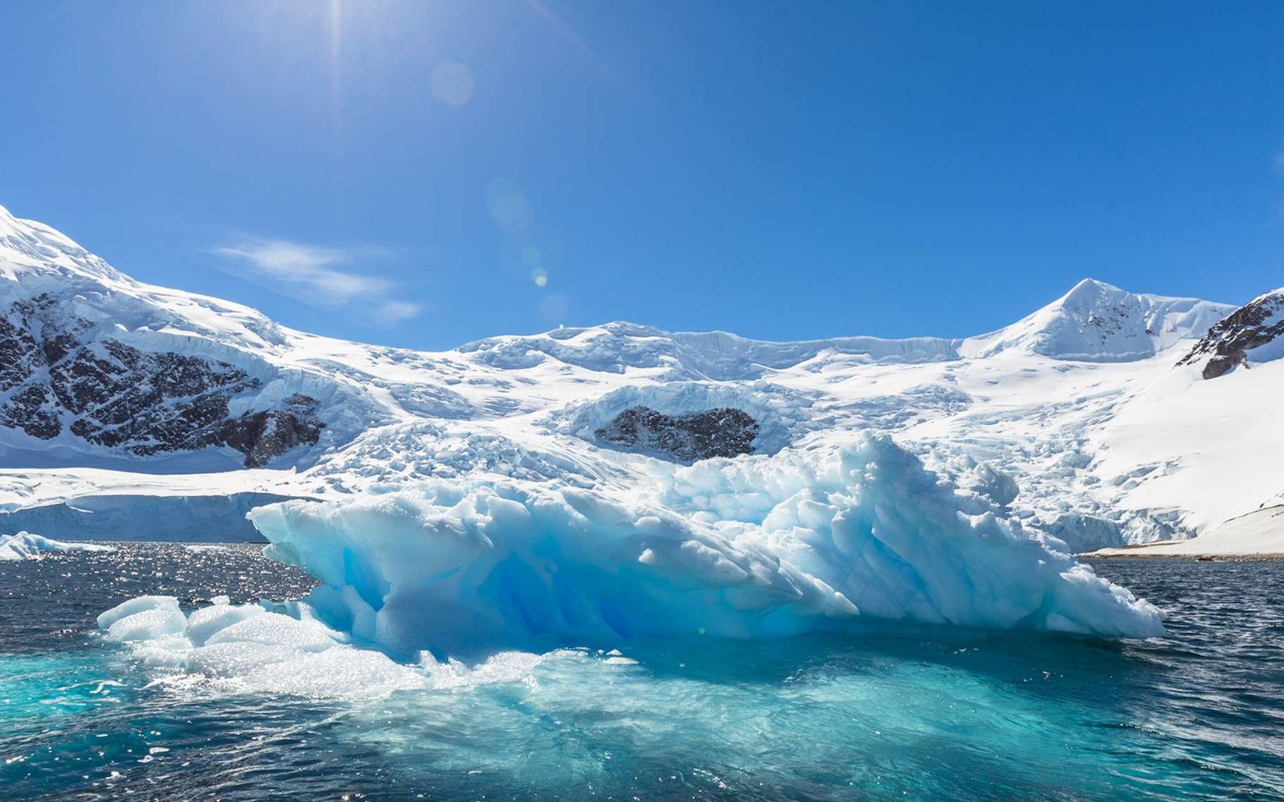 L'inlandsis Ouest-Antarctique recule d'1,6 kilomètre par an. © kalafoto, Fotolia