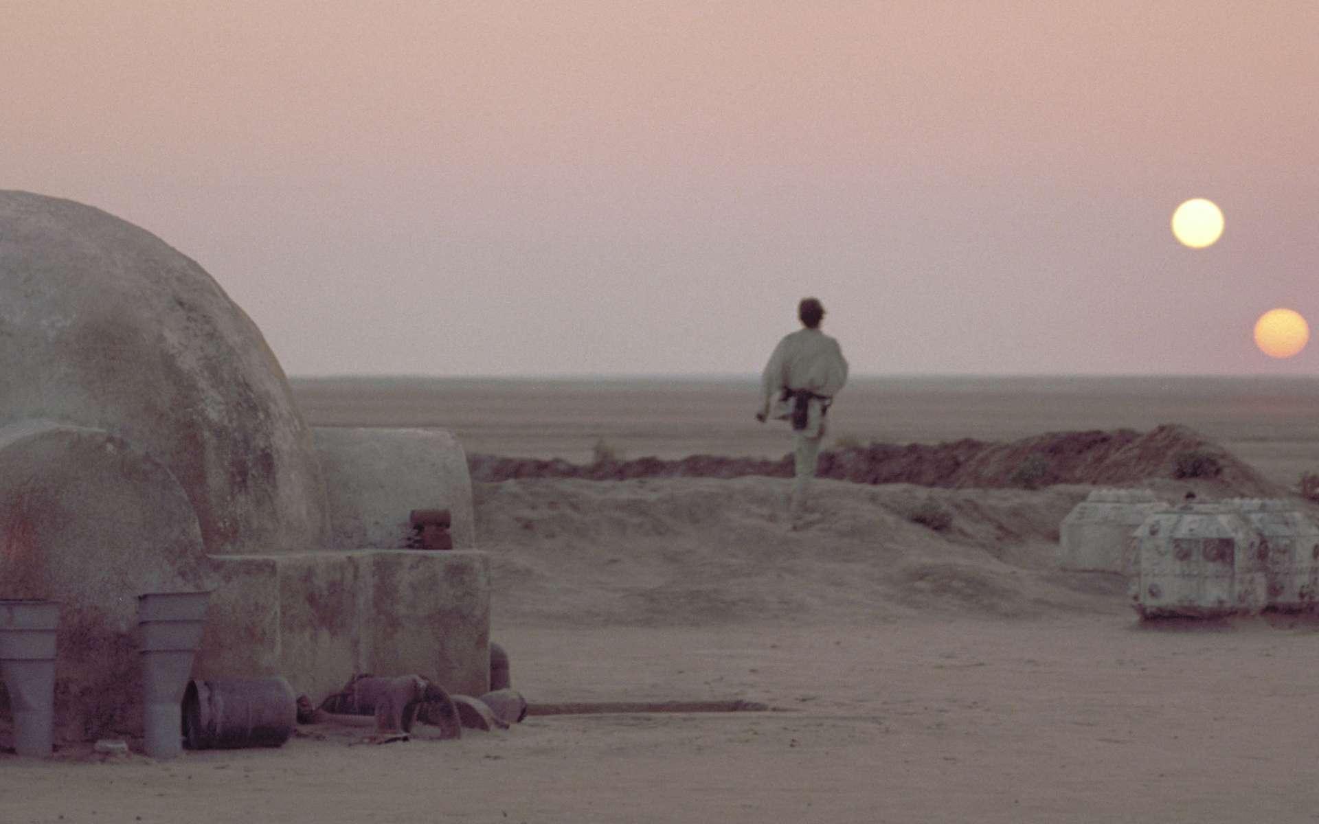 Image mythique des couchers de soleils sur Tatooine. © Lucasfilm