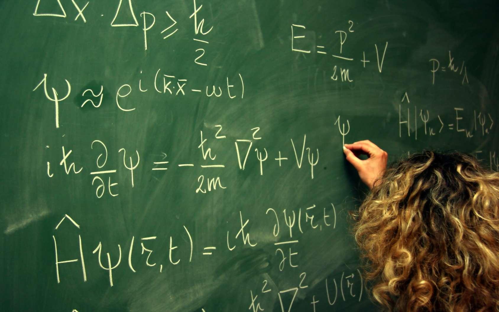 L'étrange expérience de Wheeler qui agit « dans le passé » a été vérifiée dans l'espace. Ici, les équations de la mécanique quantique. © CT, Fotolia