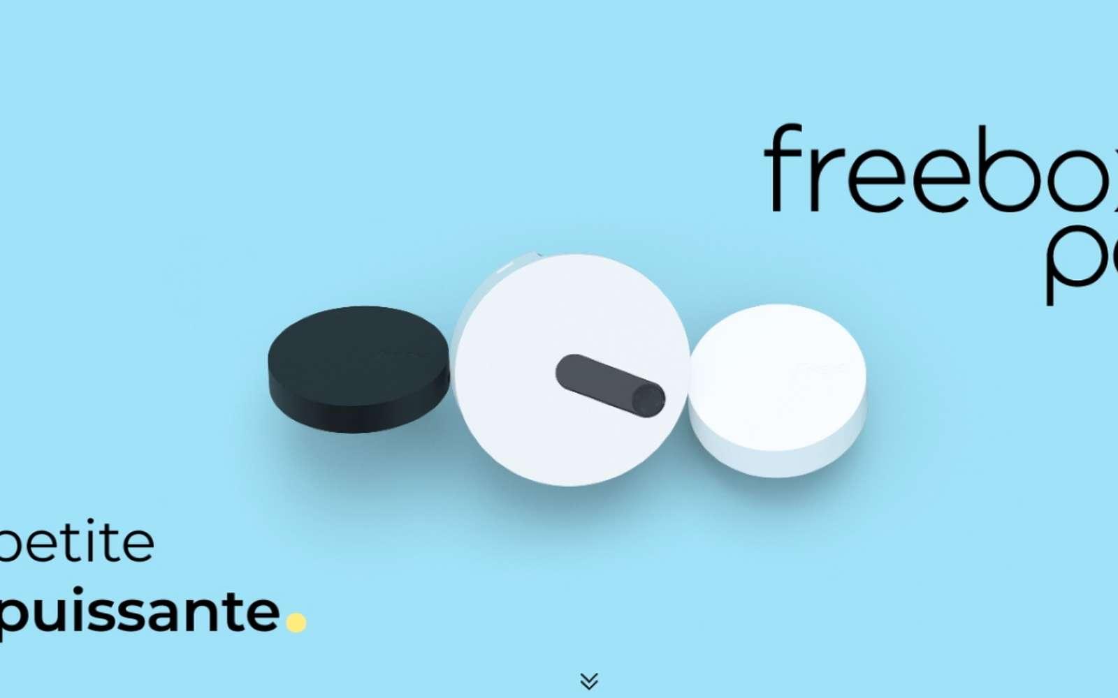 La Freebox Pop V8 est composée de deux modules, avec un serveur et un player. © Free