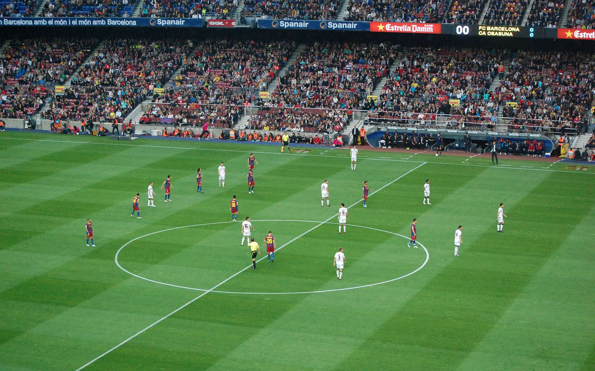 L'équipe du FC Barcelone a mis au point une technique de jeu unique au monde. © Christopher Wagner, Flickr