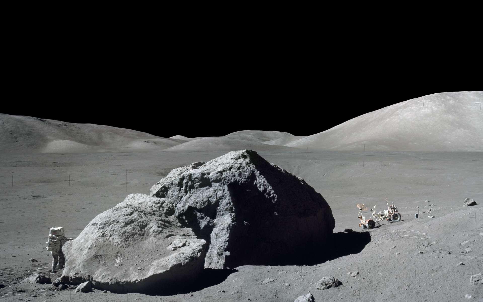 La surface de la Lune photographiée par Eugène Cernan, lors de la mission Apollo 17. © Nasa