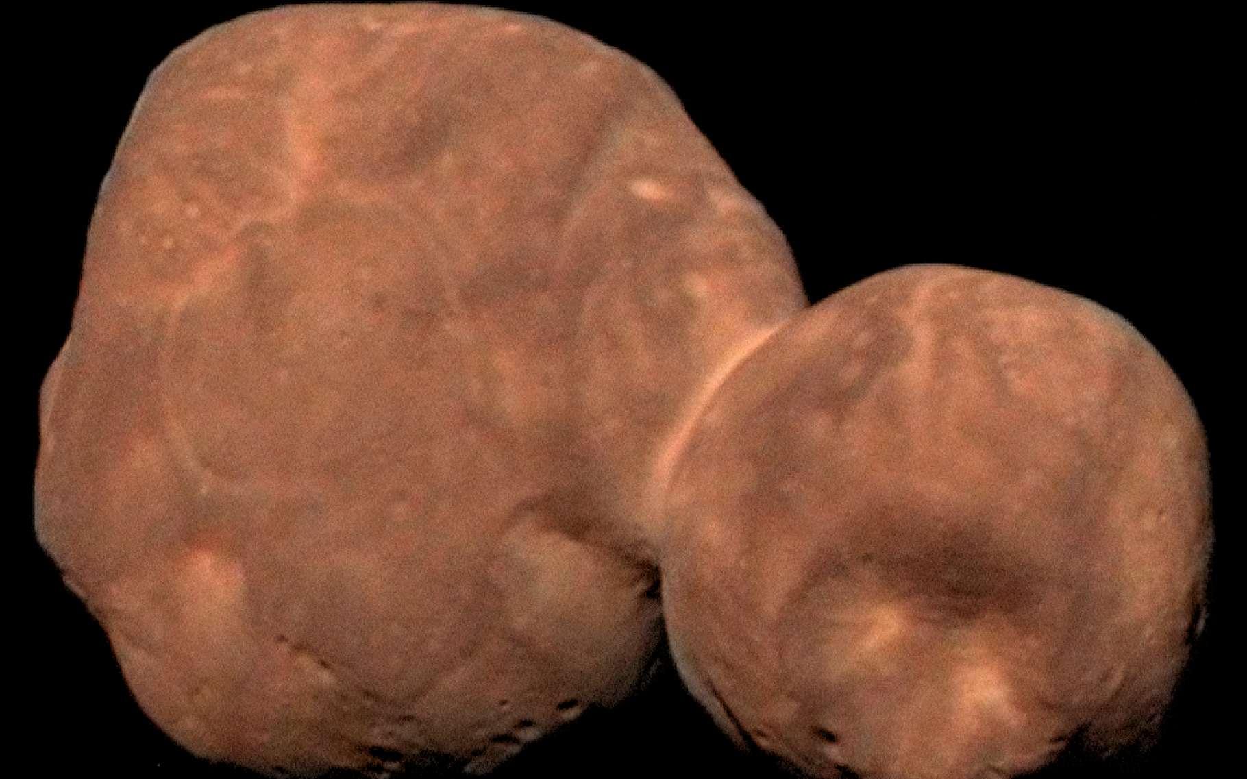 L'astéroïde Arrokoth tel que découvert par la sonde New horizons. © Nasa