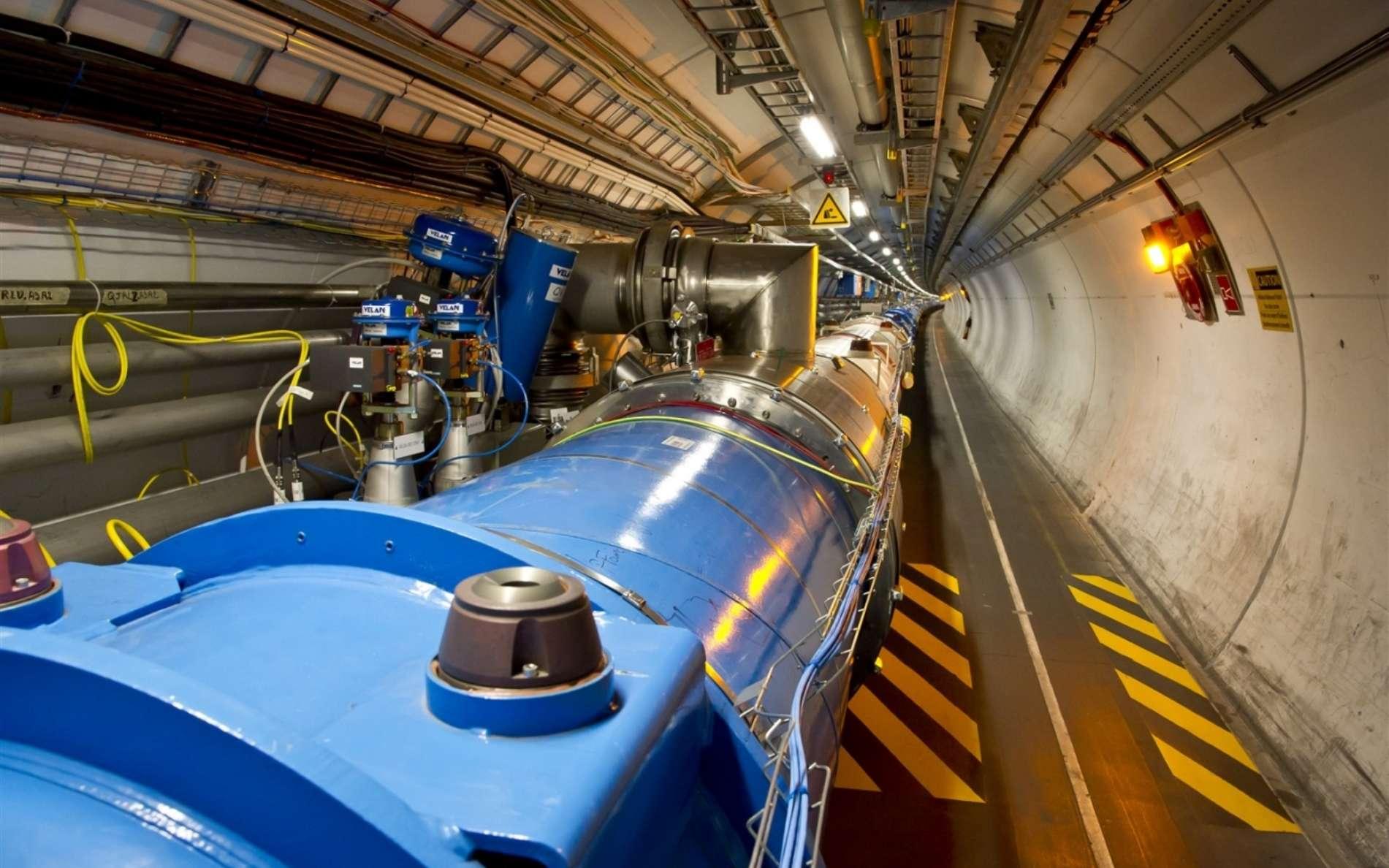 Avec le LHC, au Cern, les physiciens accélèrent des protons pour les faire entrer en collision. © Maximilien Brice, CERN