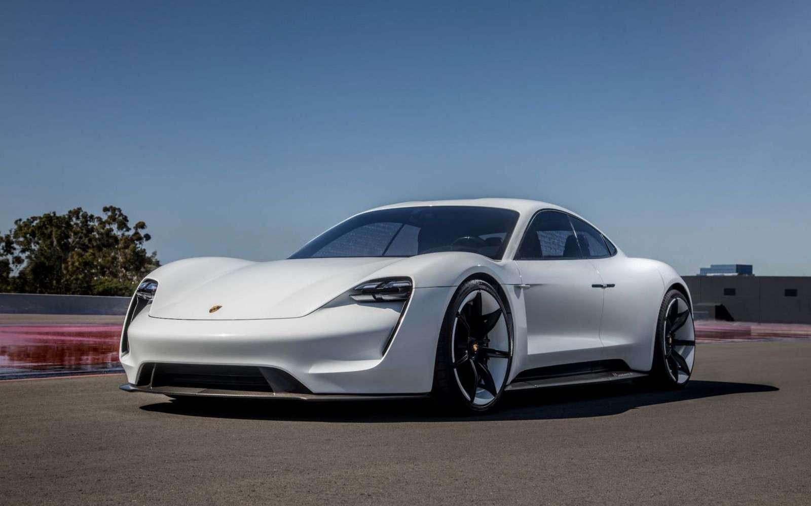 La Porsche Mission E devrait être commercialisée en 2019 ou 2020. © Porsche