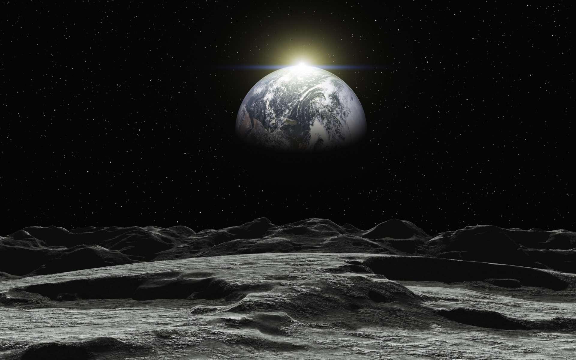 La Nasa veut payer des entreprises privées pour collecter des échantillons de roches lunaires. © Peter Kirschner, Adobe Stock