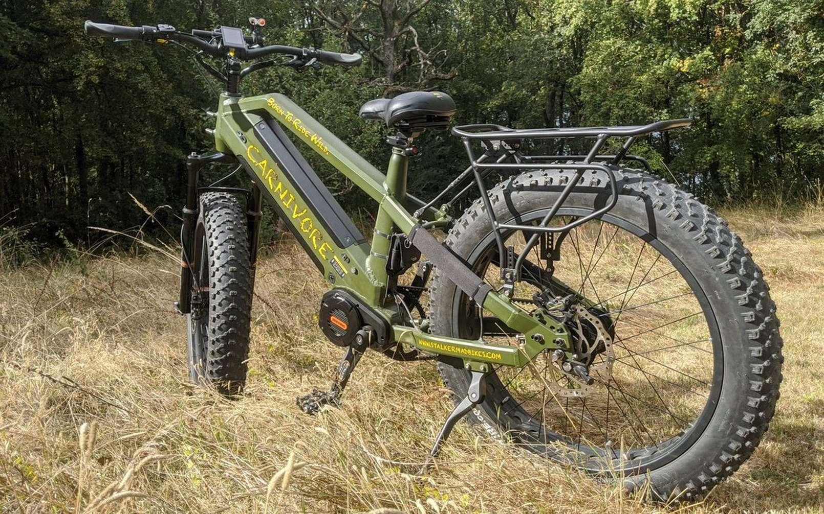 Le Carnivore de Stalker Mad Bike ne fait pas dans la finesse. Et c'est voulu. © Stalker Mad Bike