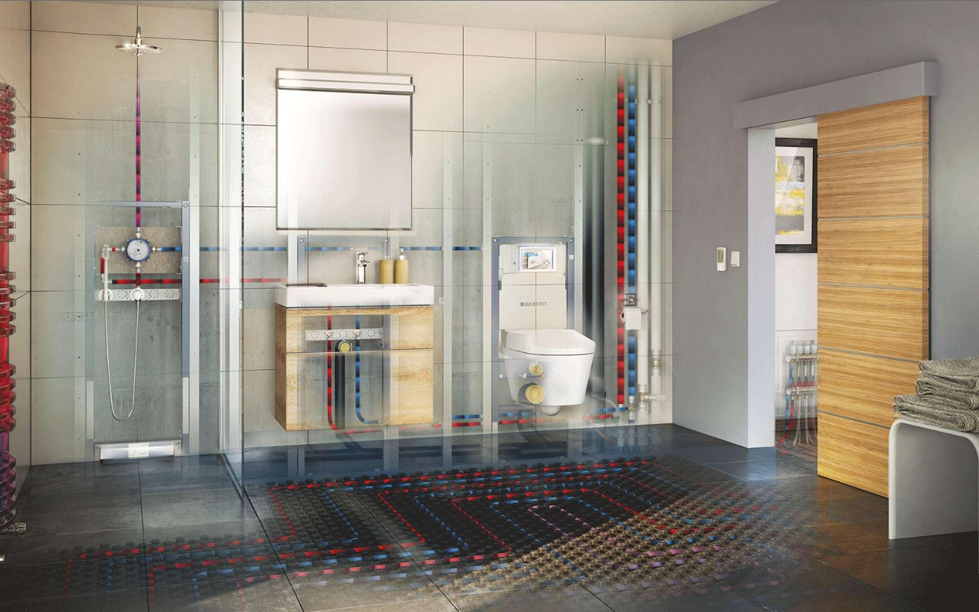 Installer le circuit d'eau domestique requiert de respecter des normes. © Geberit