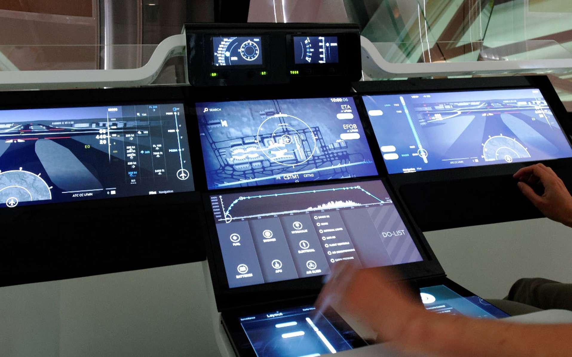 Un prototype de cockpit connecté pour avions de ligne. © Thales Avionics, Philippe Coni