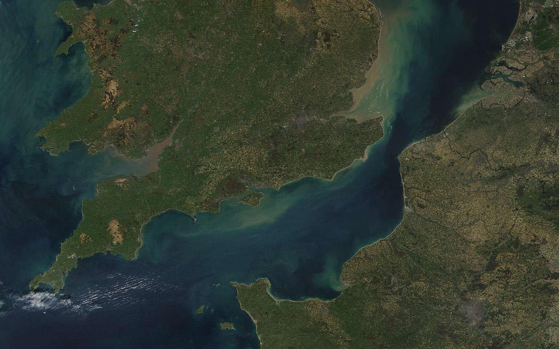 La Manche aujourd'hui, vue de l'espace. © Nasa