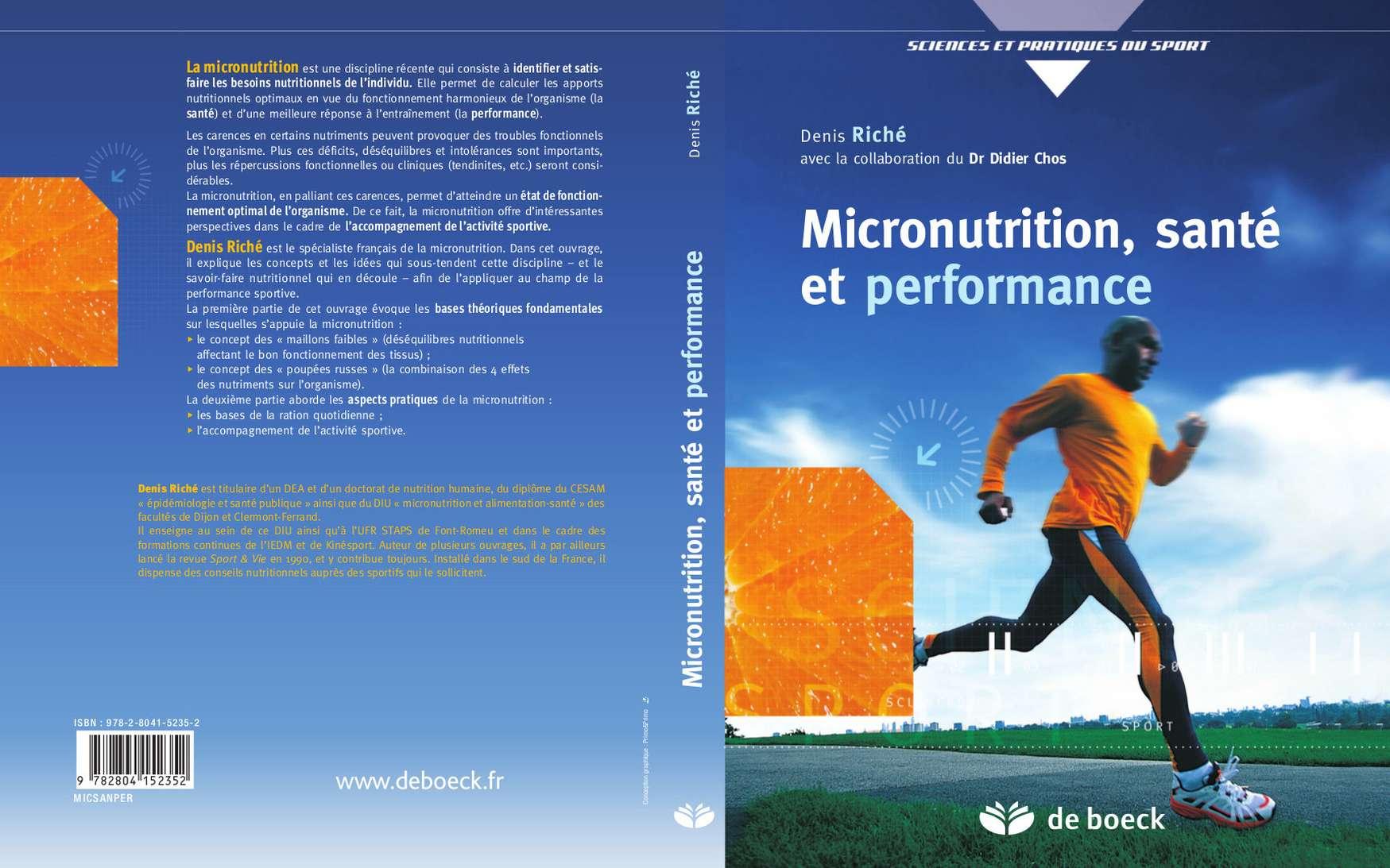Découvrez les bases théoriques de la micronutrition ainsi que ses aspects pratiques. © De Boeck