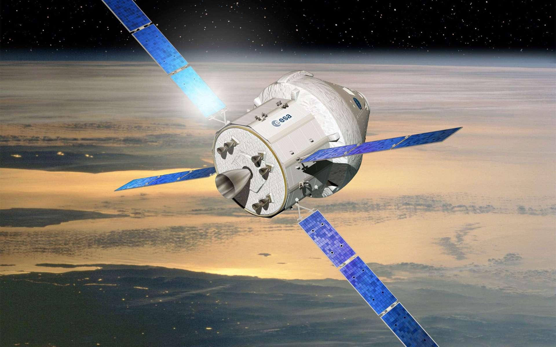 L'Orion-MPCV, véhicule des expéditions lointaines de la Nasa, utilisera un module de service fourni par l'Europe inspiré de celui de l'ATV. © D. Ducros, Esa
