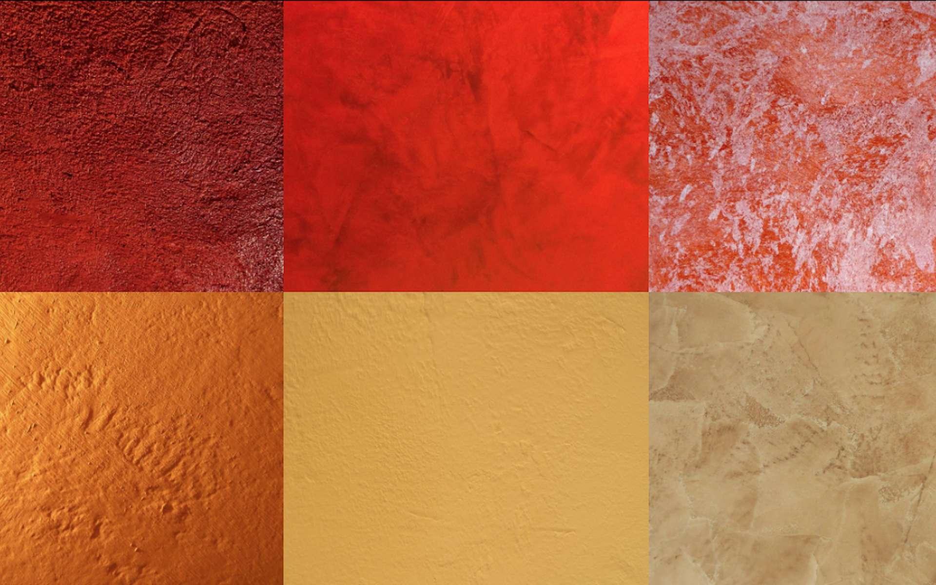 La chaux constitue le matériau de base des enduits et de couleurs pour les fresques. © Le pigment Rouge