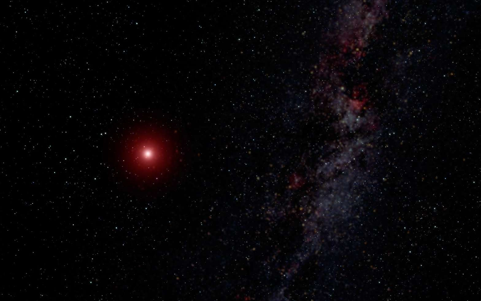Illustration d'une naine rouge ultrafroide. © Nasa, ESA, G. Bacon (STScI)