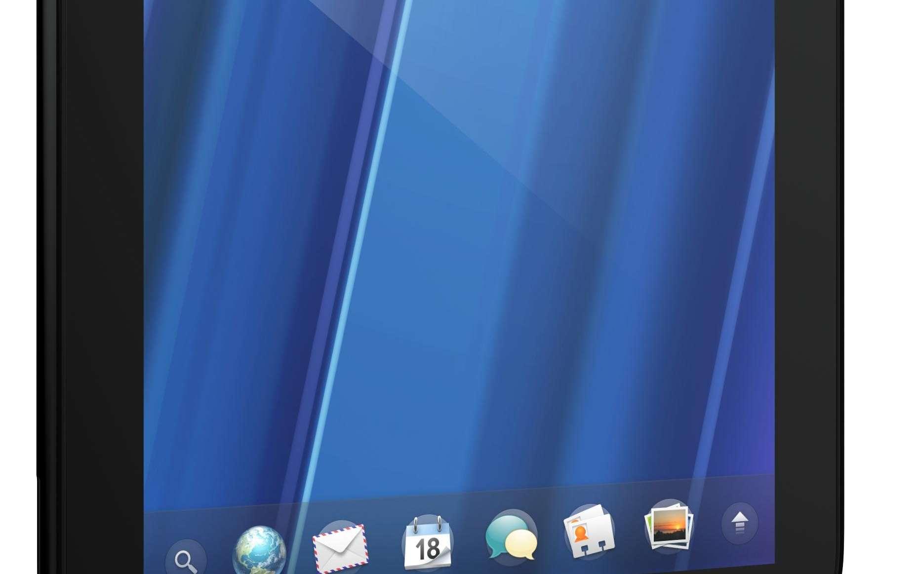 La tablette de HP, baptisée TouchPad, tourne sous un système d'exploitation efficace mais isolé : WebOS. © HP