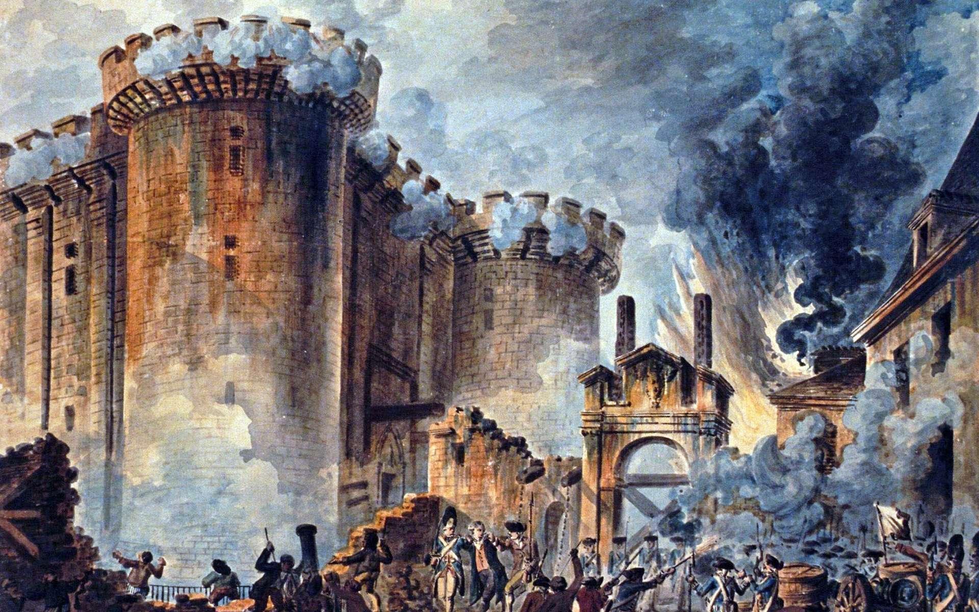 Tableau de Jean-Pierre Houël de la prise de la Bastille. © Jean-Pierre Houël, Wikimedia Commons, Domaine Public