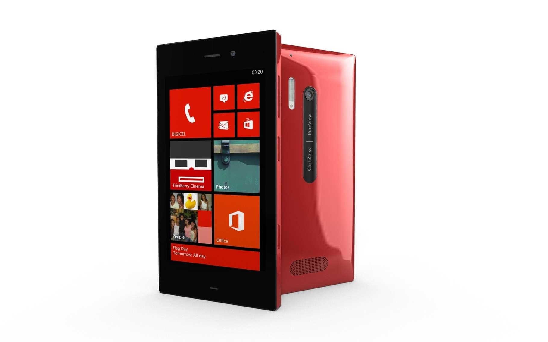 Avec Windows Phone, Microsoft a pris le contrepied d'Android et d'iOS en remplaçant les icônes des applications par des tuiles dynamiques. © Pieter Beens, Shutterstock