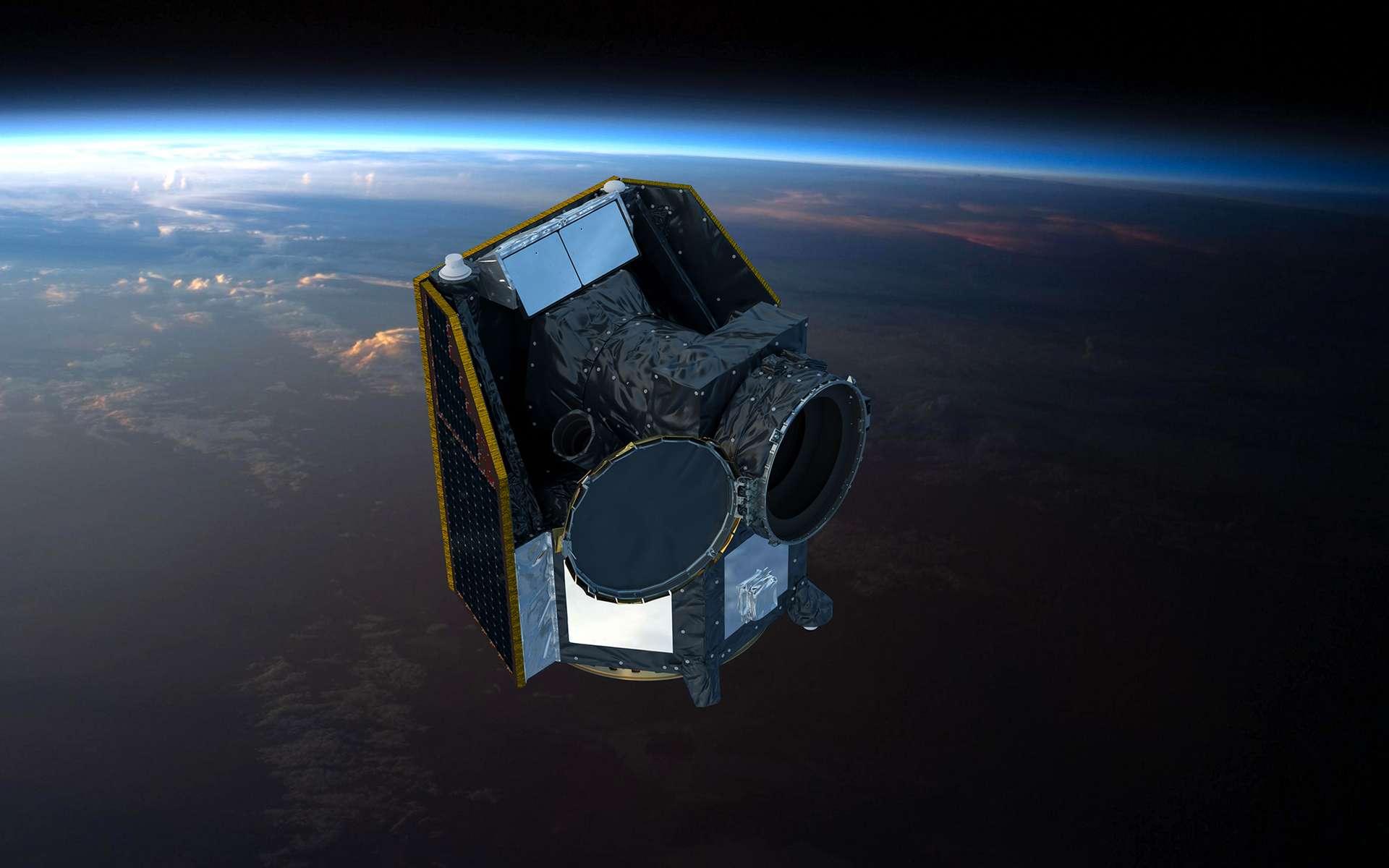 Vue d'artiste du satellite Cheops. © ESA, ATG medialab
