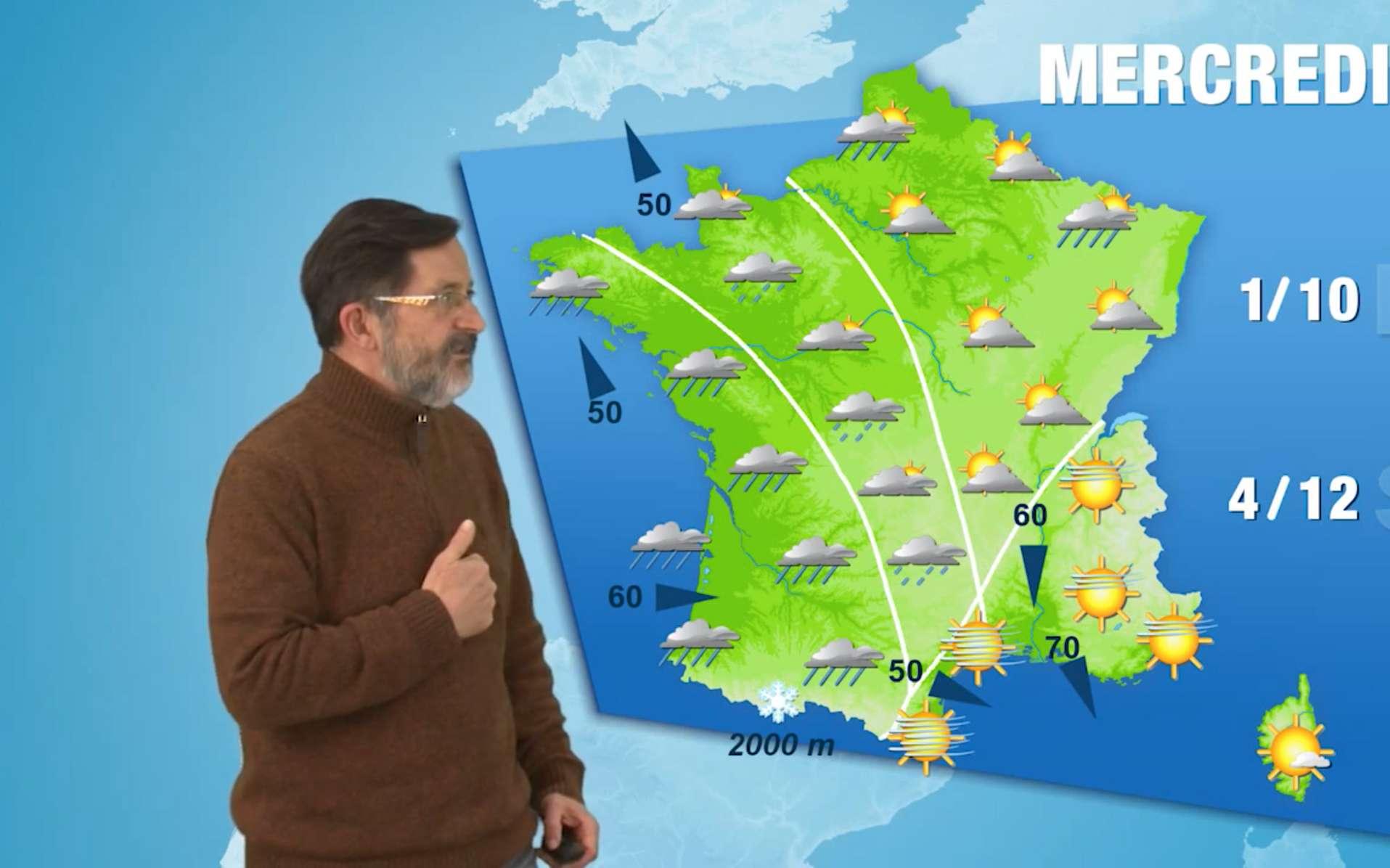 On dispose aujourd'hui de prévisions météo très fiables à quatre jours. © Météo France, YouTube