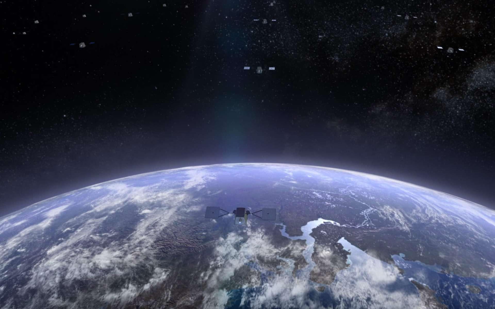 OneWeb prévoyait le déploiement de 650 satellites à l'horizon 2021. Elle vient d'annoncer sa mise en faillite. © OneWeb