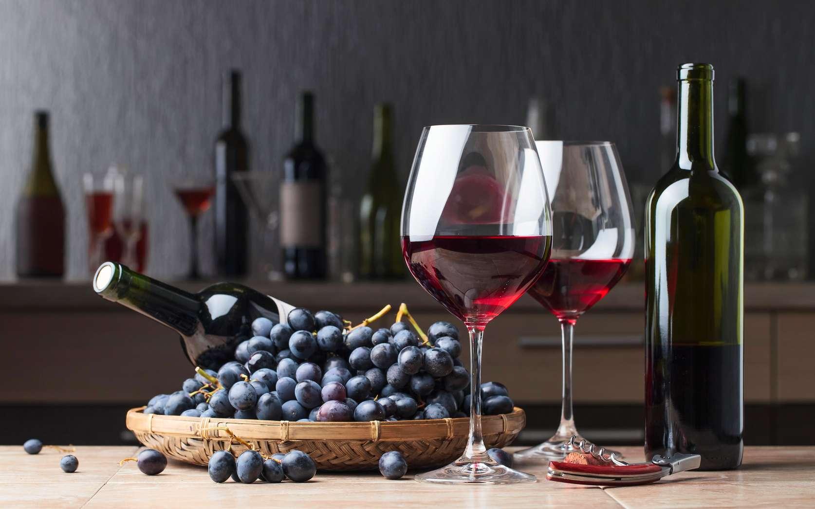 Les polyphénols sont des molécules au fort pouvoir oxydant présentes notamment dans le vin rouge. © Igor Normann, Fotolia