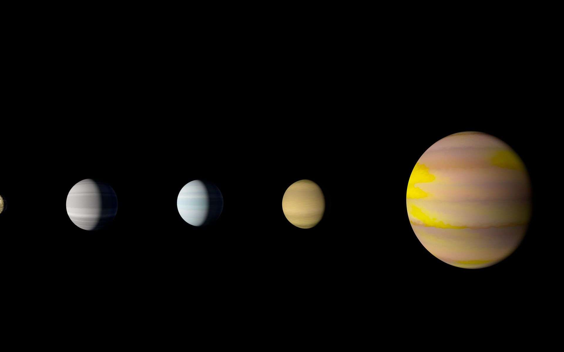 Illustration du système de Kepler-90, le seul connu à ce jour avec le Système solaire, à posséder huit planètes. © Nasa, Ames Research Center, Wendy Stenzel