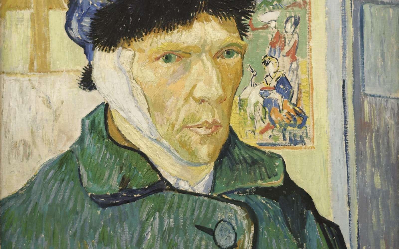 Autoportrait à l'oreille bandée, Vincent Van Gogh,1889, Institut Courtauld. © Van Gogh, Domaine public, Wikimedia Commons, CC by-sa 4.0