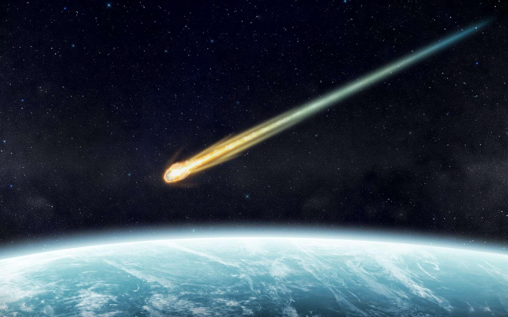 Un bolide rasant est un météoroïde qui pénètre dans l'atmosphère terrestre pour en ressortir. © sdecoret, Adobe Stock