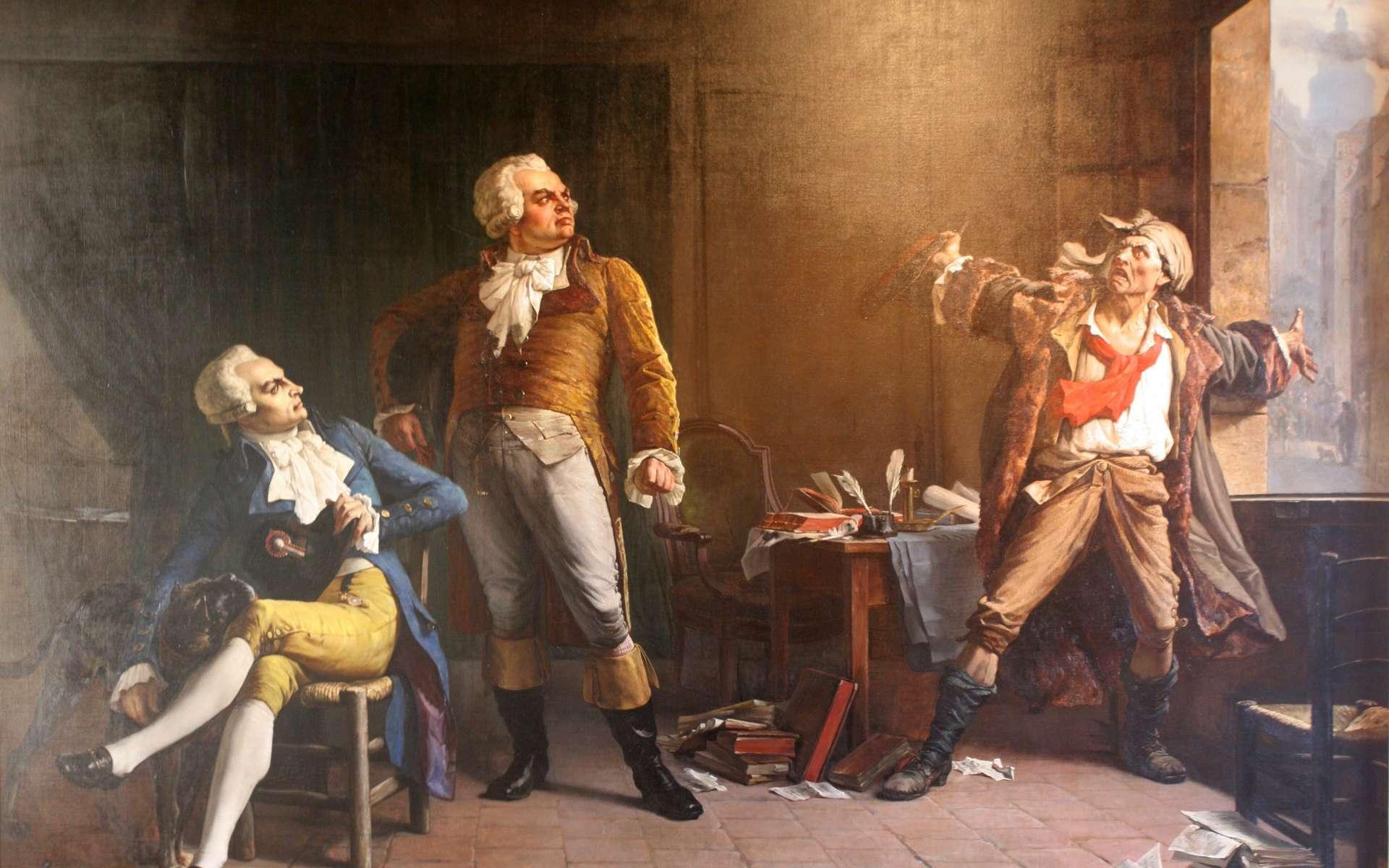 Robespierre, Danton et Marat, peinture d'Alfred Loudet, 1882. © Musée de la Révolution française, David Monniaux, Wikimedia Commons, domaine public