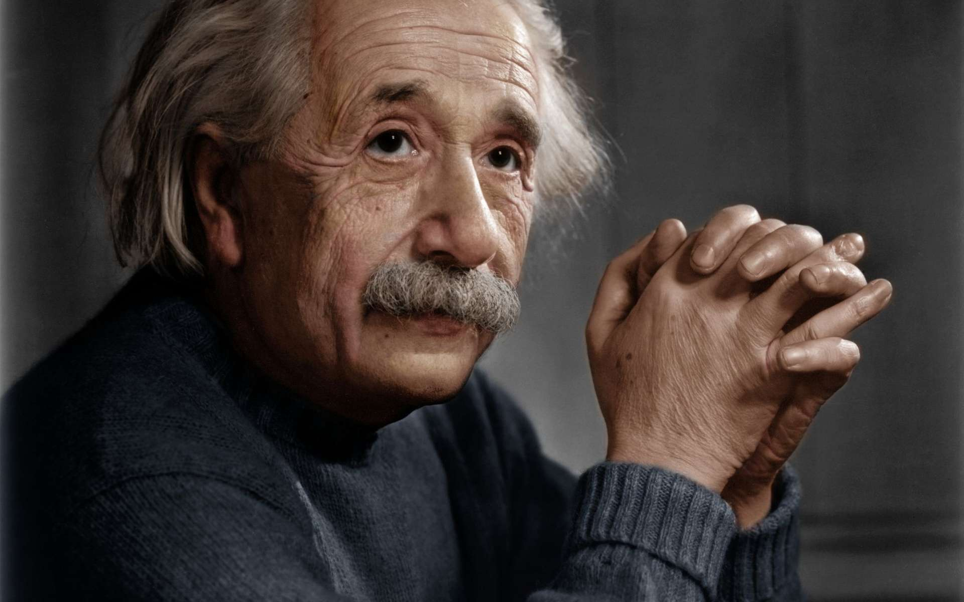 Albert Einstein, probablement au cours des années 1940. © DP