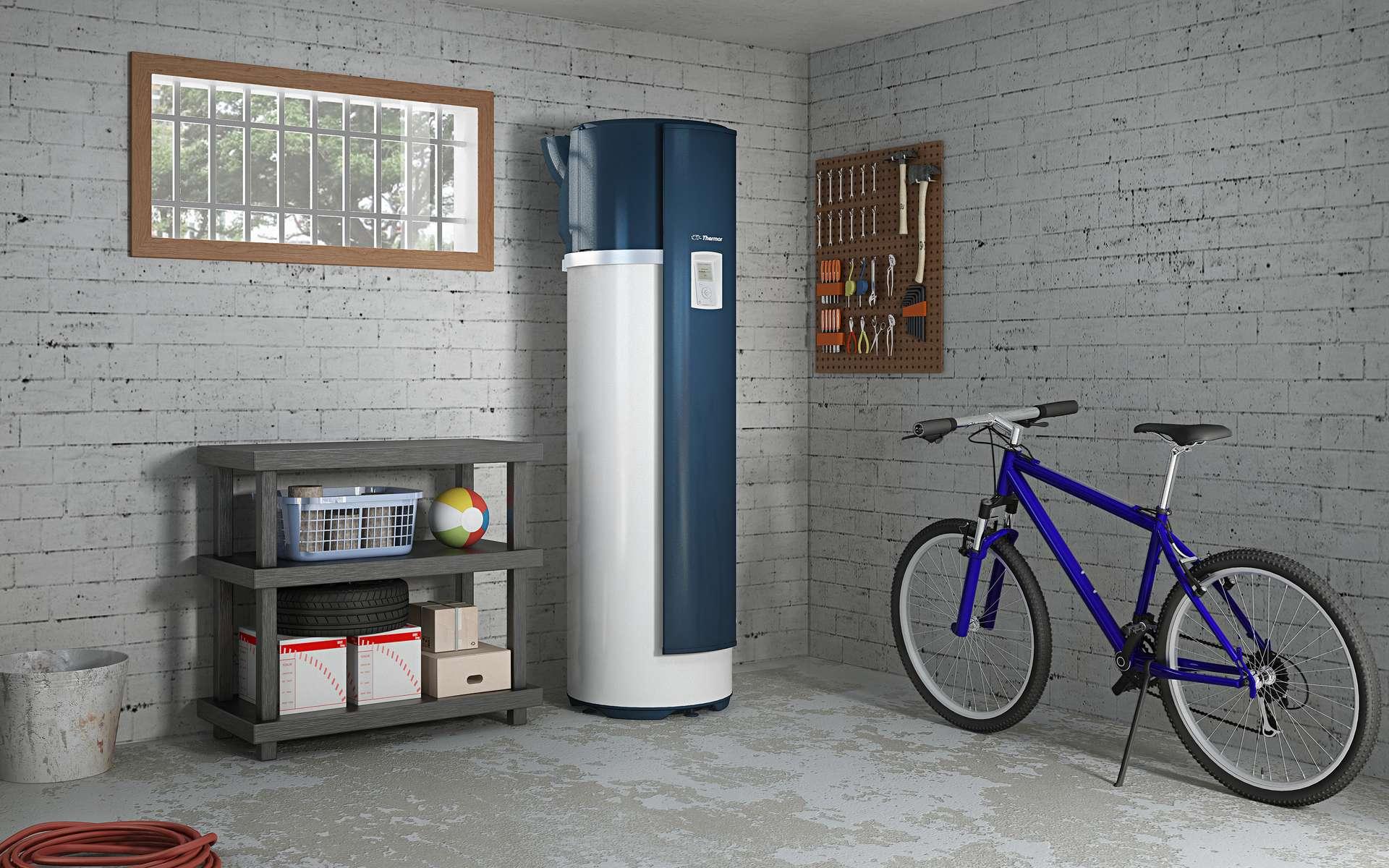 La PAC rejetant un air refroidi, il est déconseillé d'installer un modèle monobloc dans une pièce de vie sous peine d'entraîner une surconsommation de chauffage en hiver. © Thermor