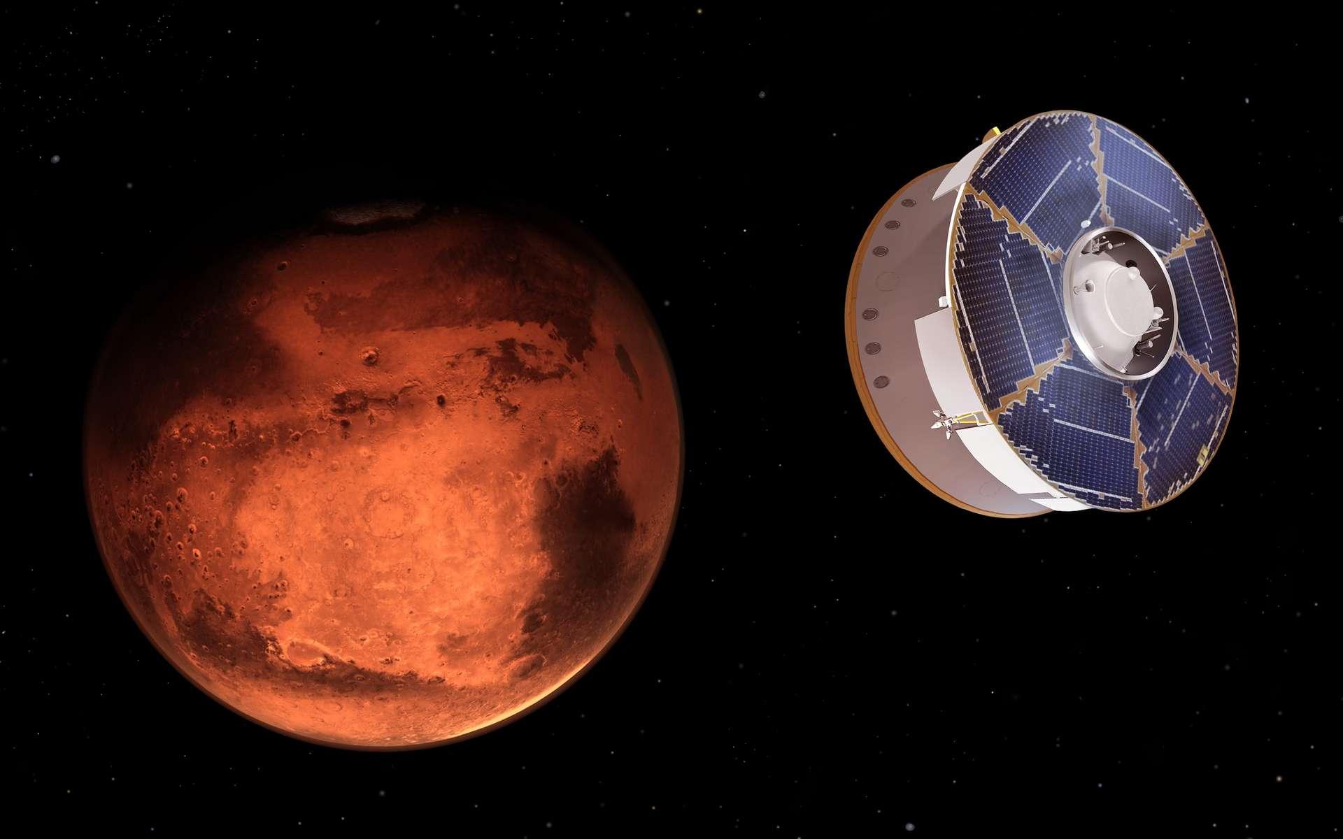 Le vaisseau transportant le rover Perseverance arrive en vue de Mars ! Nous sommes alors le 18 février 2021. © Nasa, JPL-Caltech