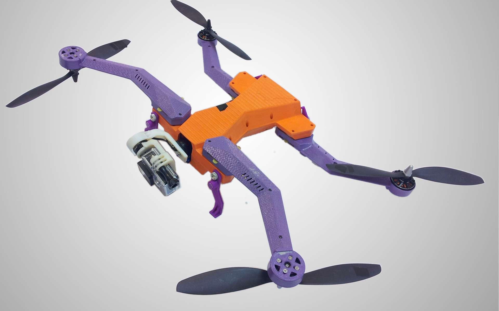 Parmi les très nombreuses nouveautés en matière de drones présentées au Consumer Electronics Show, l'AirDog fut l'une des plus remarquées. © AirDog